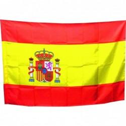 Bandera España con escudo...